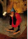 Skating bird demon from Bosch's Temptation of St. Anthony
